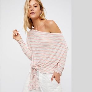 FREE PEOPLE- We the Free Stripe Love Lane Tee NWOT
